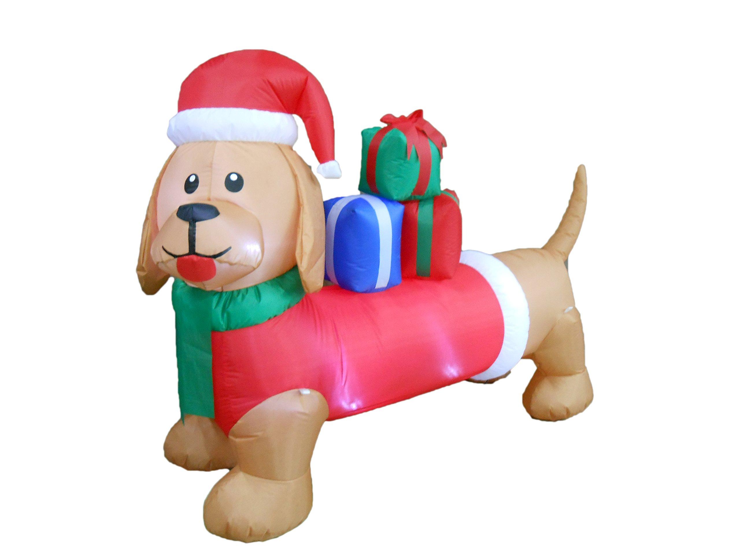 6 Foot Long Christmas Inflatable Dog Yard Decoration
