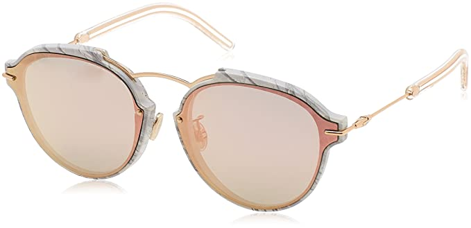 Amazon.com  Dior Eclat Sunglasses White Gray Rose Gold  Clothing 8d2f618db25