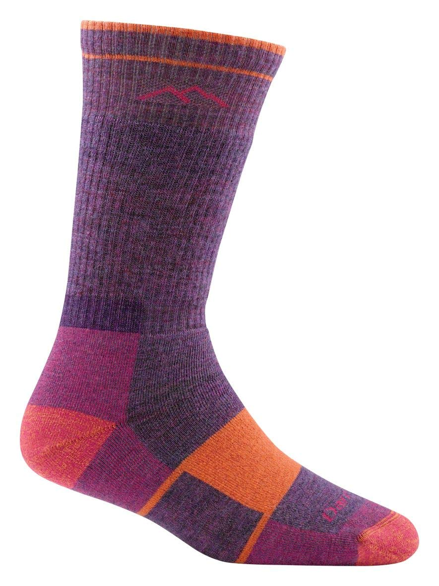 Darn Tough Hiker Boot Full Cushion Socks - Women's Plum Heather Medium by Darn Tough