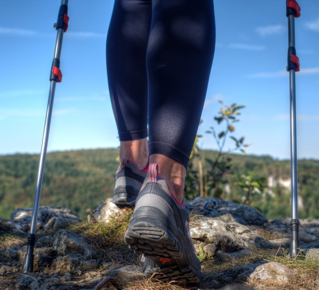 """120 cm PDF Workout ATTRAC Impugnatura in Sughero e Sistema sgancio rapido /""""Click /& Go/"""" dei guantini Bastoncini Nordic Walking a Lunghezza Fissa"""
