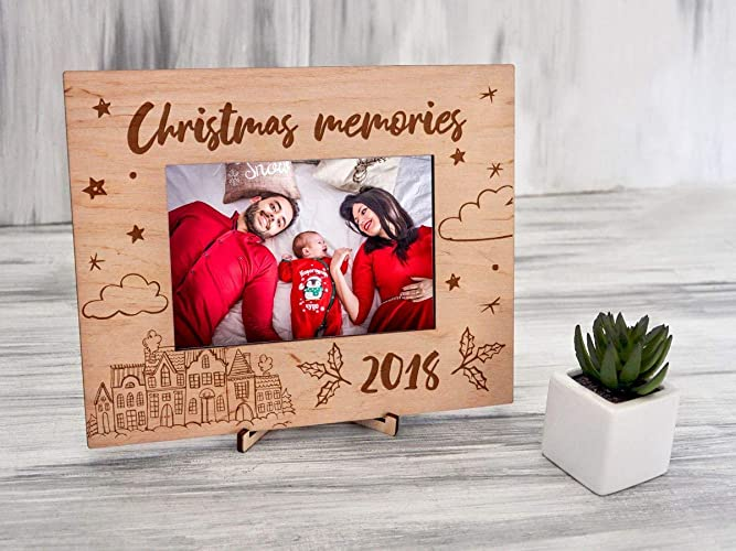 christmas picture frames wood photo frame christmas family gift custom picture frame christmas memories holiday gifts