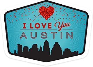 product image for Lantern Press Austin, Texas - I Love You - Contour 101424 (Vinyl Die-Cut Sticker, Indoor/Outdoor, Large)