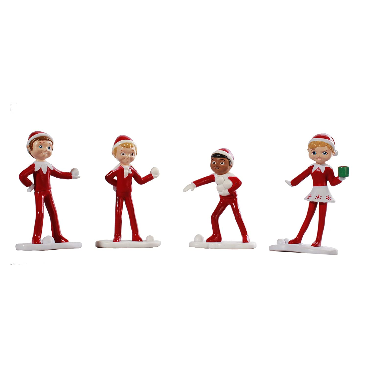Amazon An Elf s Story Figurines North Pole Elves Toys & Games