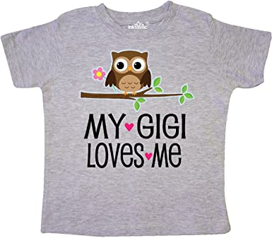 inktastic My Grammie Loves Me with Owl Baby T-Shirt