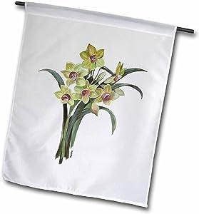 "3dRose fl_18259_1""Flowers Lent Lily Garden Flag, 12 x 18"