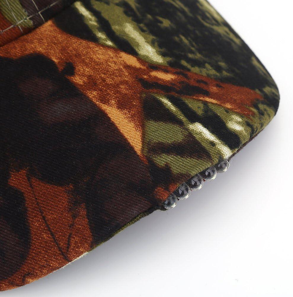 Keenso Angelhut Leichte led Baumwolle einstellbare baseballm/ütze Scheinwerfer Hut nachtfischen Camping joggen