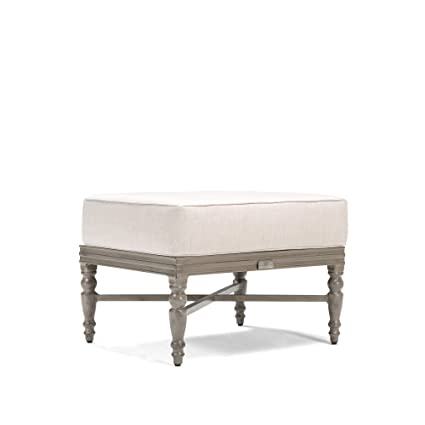 Blue Oak Outdoor Saylor Patio Furniture Ottoman with Outdura Remy Sand  Cushion - Amazon.com : Blue Oak Outdoor Saylor Patio Furniture Ottoman With