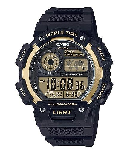 Casio Reloj Digital para Hombre de Cuarzo con Correa en Resina AE-1400WH-9AVEF: Amazon.es: Relojes
