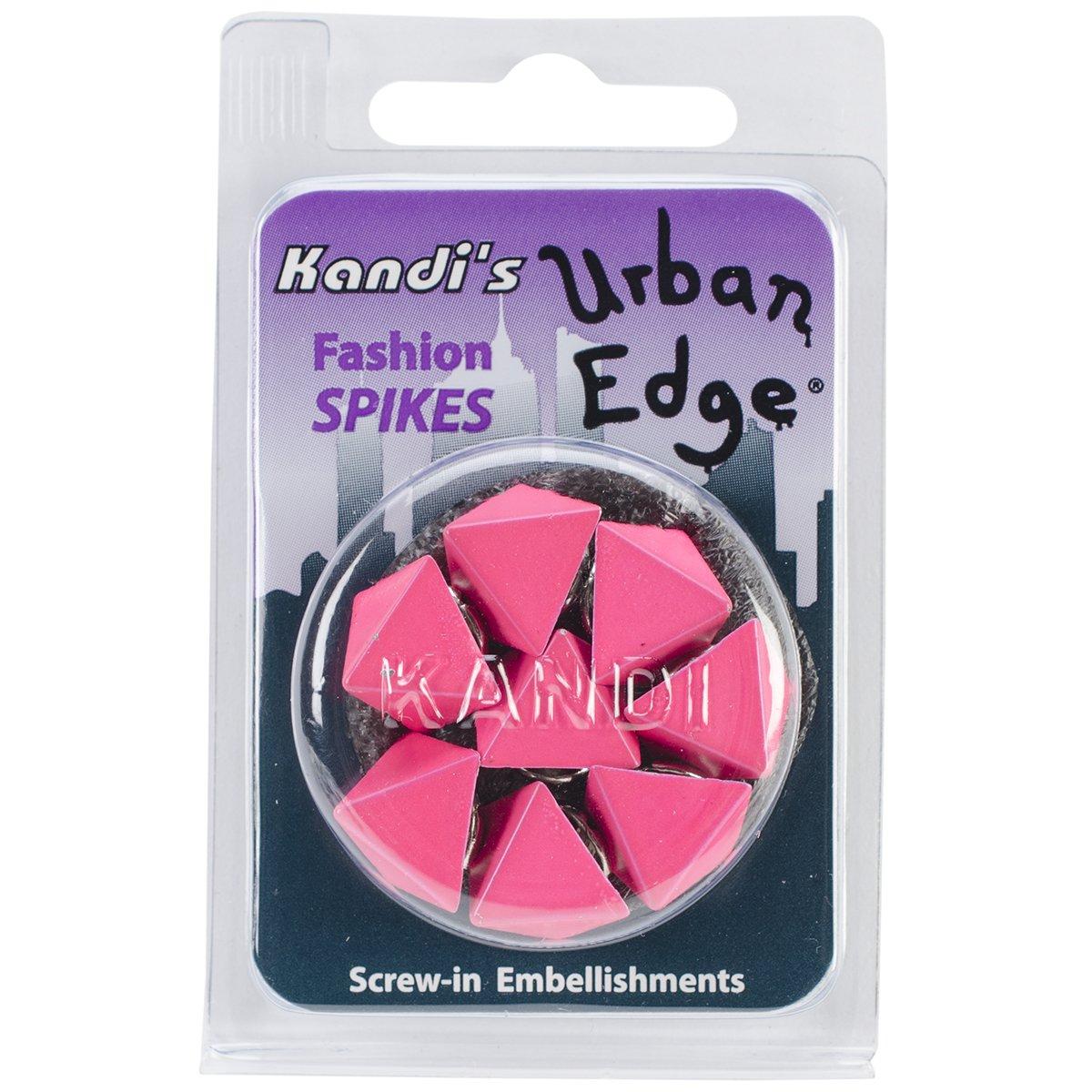 Urban Edge Pyramid Screwback Spike 13mmx9mm 8/Pkg-Watermelon Pink (並行輸入品)   B00JX1NOPA