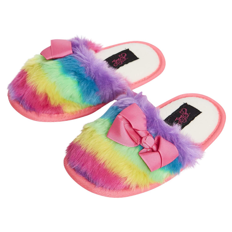 JOJO SIWA Pink Faux-Fur Slippers Girls  Youth 2//3