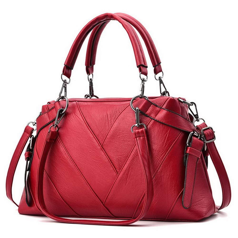 Claret WeiPoot Women's TwoToned Fashion Pu Crossbody Bags Shoulder Bags,EGHBG182022