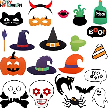 Halloween Photo Booth Props Booth 45 Fun Halloween Props Photo Props -Instant Download DIY Halloween Party Halloween