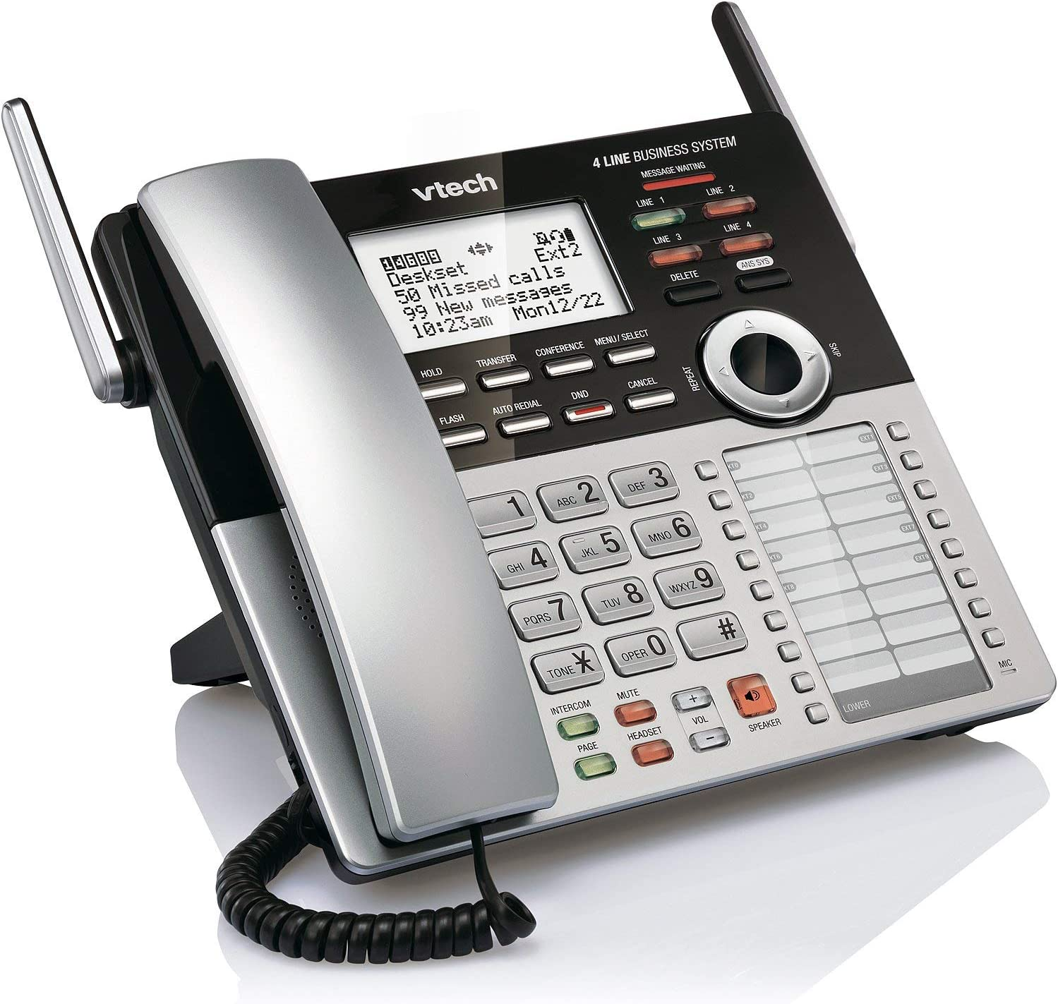 VTech CM18245 Extension Deskset for VTech CM18845 Small Business Office Phone System (Renewed)