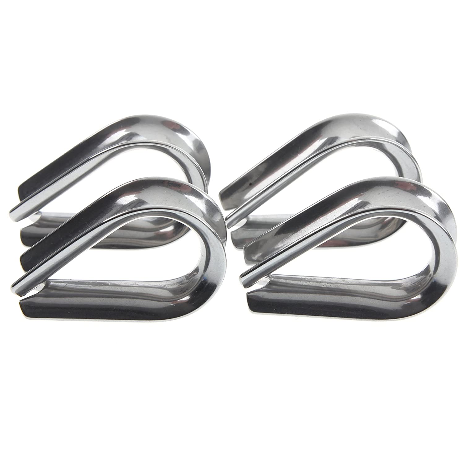 4 x Stainless Steel - 3mm Wire/Rope Thimbles: Amazon.co.uk: Sports ...