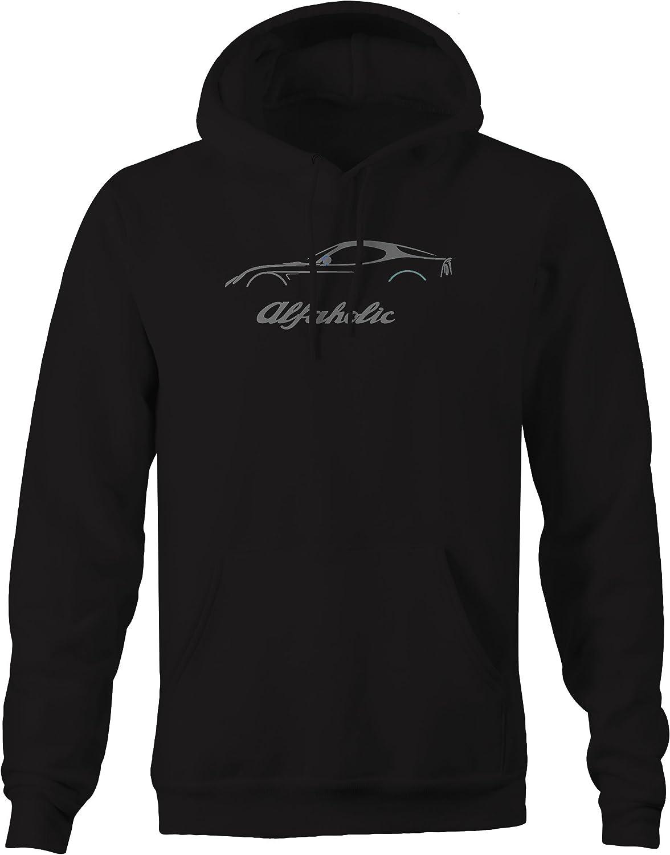 Alfaholic Alfa Romeo Sports Coupe Euro Classic Racing Sweatshirt Stealth 3XL