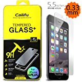 iPhone 6 plus 5.5 inch screen protector Cailifu [Tempered Glass] Highest Quality Premium High Definition Ultra Clear Screen protector [1-Pack] - Retail Packaging 2014 (0.33mm,2.6D Rounded Edges)