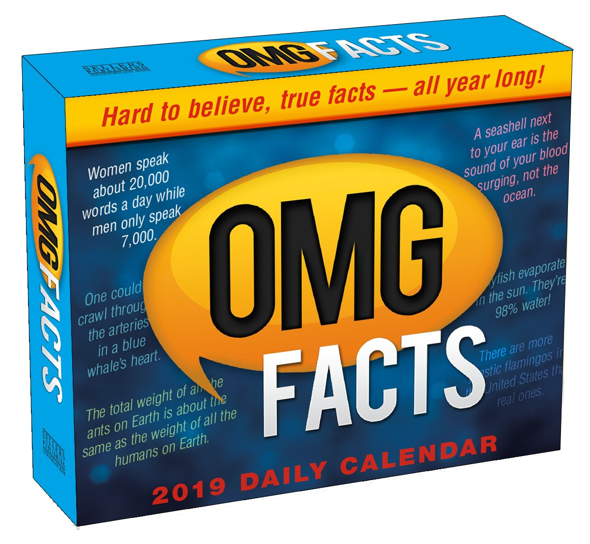 2019 omg facts boxed daily calendar by sellers publishing 6 x 5 cb 0518 spartz media 0764453005189 amazoncom books