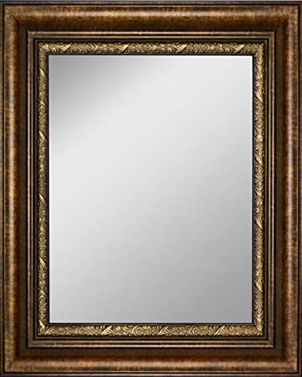 Amazon Com Art Oyster Framed Mirror 26 X 30 With Copper