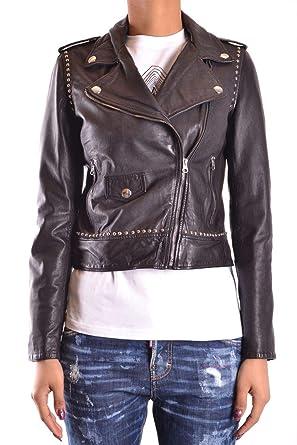 8e4612bd2c919 Pinko Giacca Outerwear Donna IMPAVIDOZ99 Pelle Nero  Amazon.it   Abbigliamento