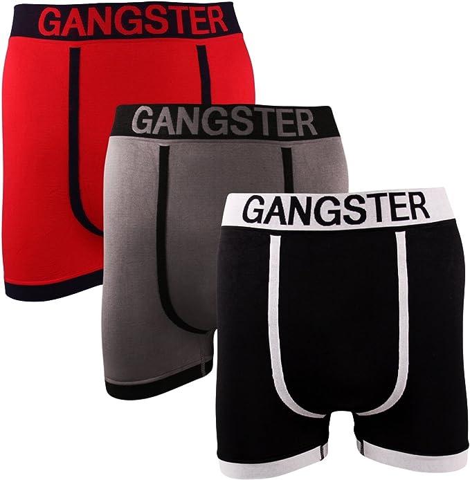 3 Pairs Mens Seamless Boxer Shorts Trunks Briefs Adults Wild Designer Underwear