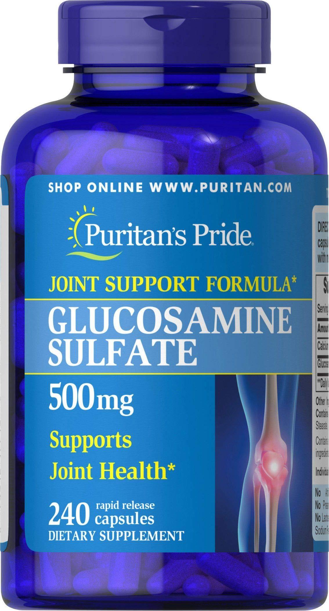 Puritans Pride Glucosamine Sulfate 500 Mg, 240 Count