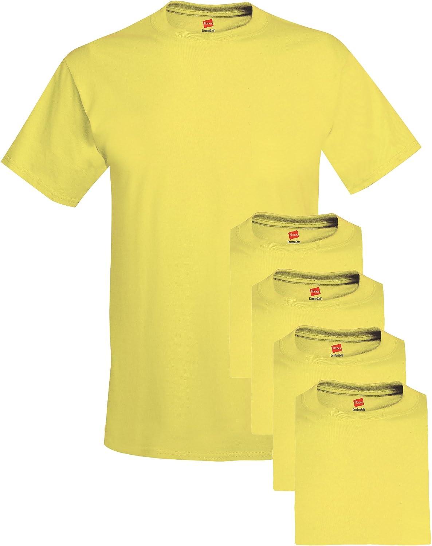 Hanes Mens Short Sleeve Polo Tee Shirt size Small Colour Khaki