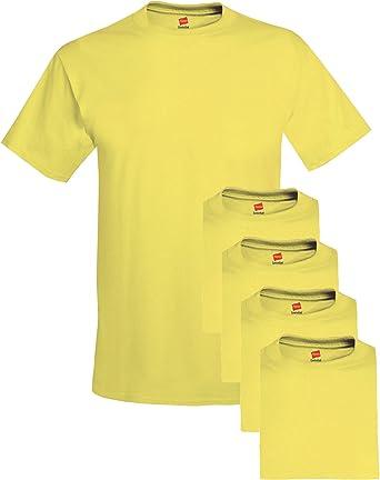 Camiseta de tallas grandes para hombres (paquete de 5), peque?a, amarilla: Amazon.es: Ropa y accesorios