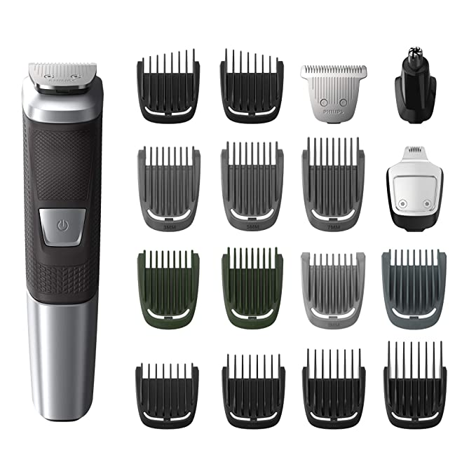 Amazon.com: Philips Norelco MG5750/49 Multigroom All-In-One Trimmer Series 5000 With 18Piece, No Blade Oil Needed,: Beauty