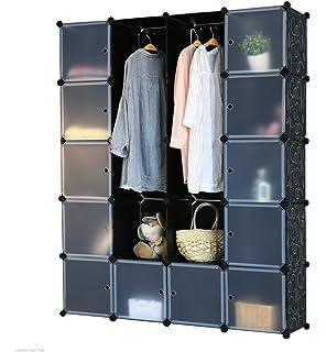 Steckregal aus kunststoff-boxen  Regalsystem 12 Boxenfächer Steckregal Kleiderschrank DIY Garderobe ...