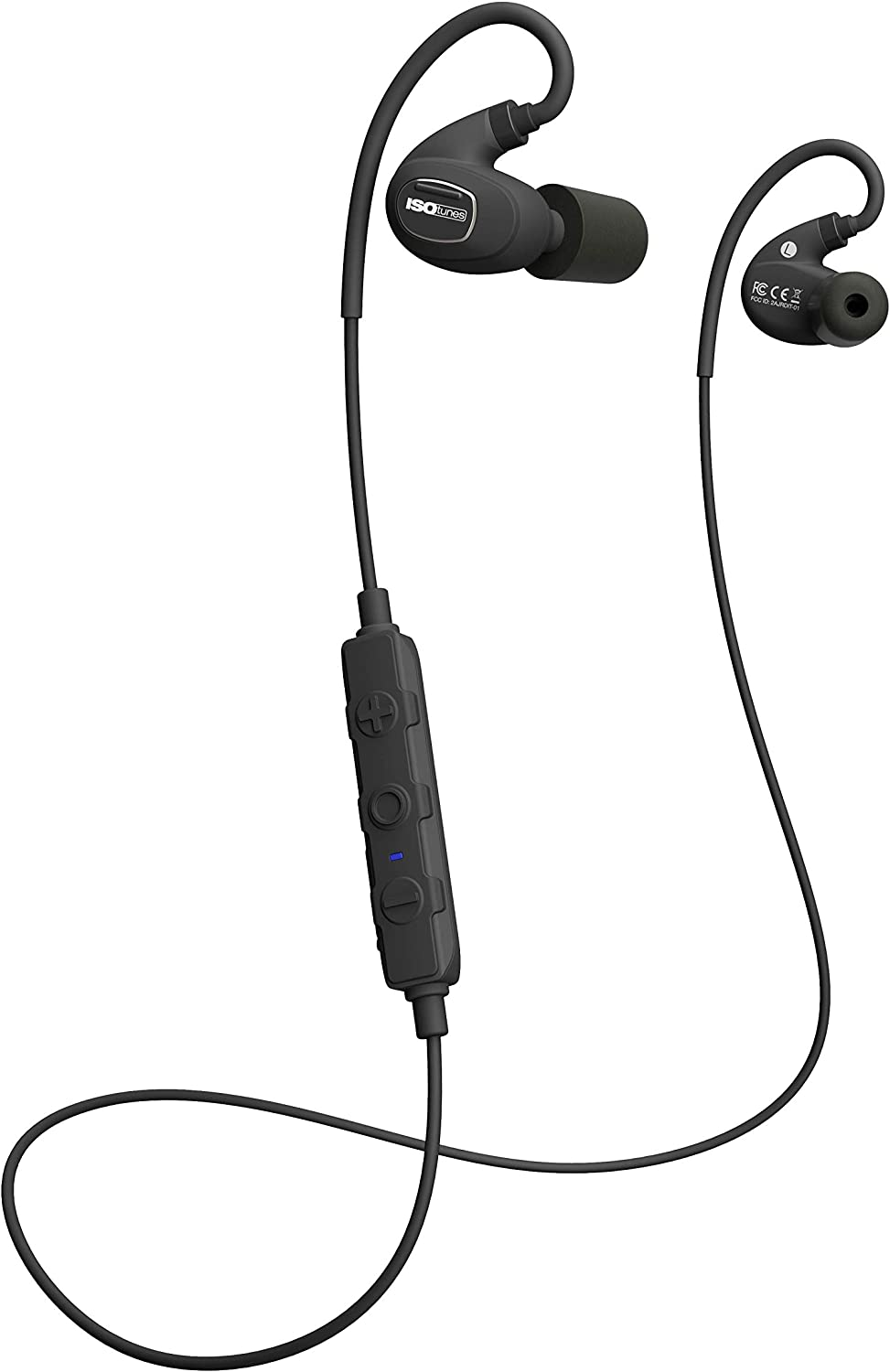 OSHA Compliant Bluetooth Hearing Protector Noise Cancelling Mic All Black 8 Hour Battery 27 dB Noise Reduction Rating ISOtunes Xtra Bluetooth Earplug Headphones