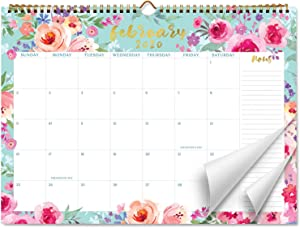 Sweetzer & Orange 2020 Calendar. 18 Month Office or Family Wall Calendar 2020-June 2021 – Floral Design Monthly Planner, Daily Wall Calendars for Office Organization. 11.5 x 15 Inch Hanging
