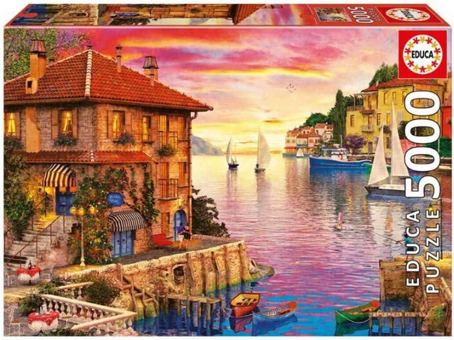YQ QY Puzzle for Adultos Puerto del Mediterráneo 5000 Pieza del Rompecabezas del Juguete QY (Size : 5000 Piece): Amazon.es: Hogar