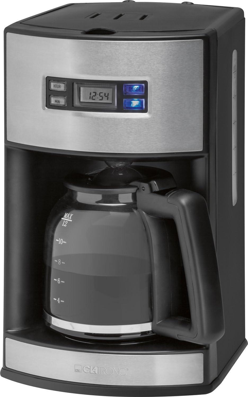 Clatronic KA 3482 Cafetera de goteo programable, capacidad 15 tazas 1,7 litros, negra plata, 1000W, 1000 W, 14 Cups, plástico: Clatronic: Amazon.es: Hogar