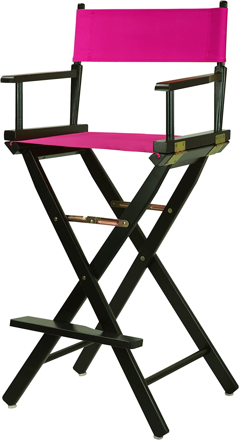 "Casual Home 230-02/021-30 Director Chair 30"" - Bar Height BlackFrame/Magenta Canvas"