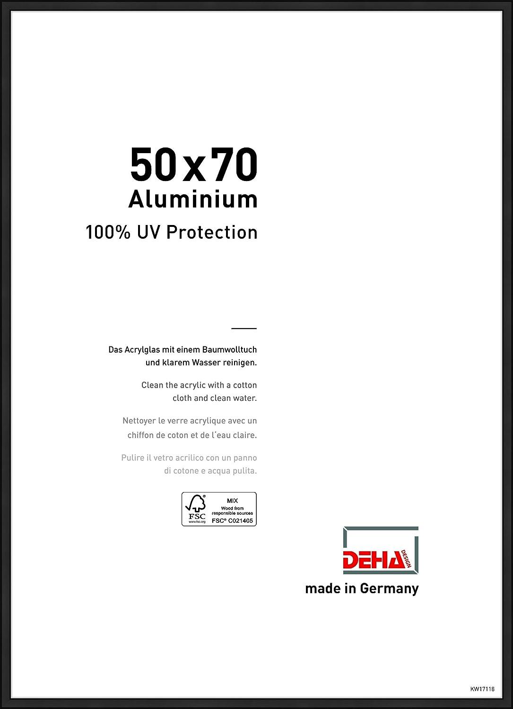 21x29,7 cm A4 DEHA Aluminium Bilderrahmen Boston Silber