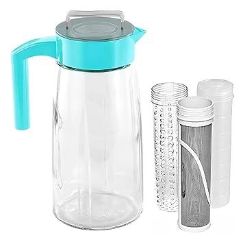 Cocina actualizaciones 60oz Cold Brew cafetera eléctrica con filtro de malla fina con hielo, hielo, y infusor de frutas: Amazon.es: Hogar