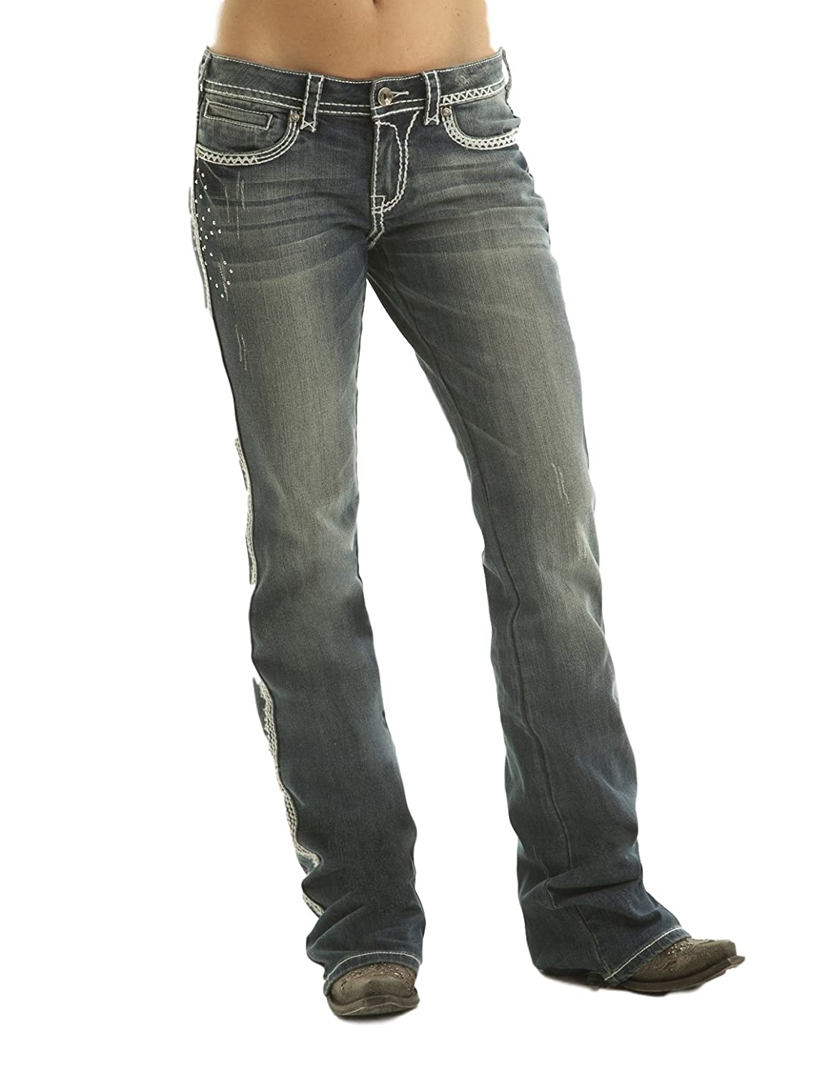 Cowgirl Tuff Jeans Womens Saddle Ready II 30 Long Med Wash JSDRII