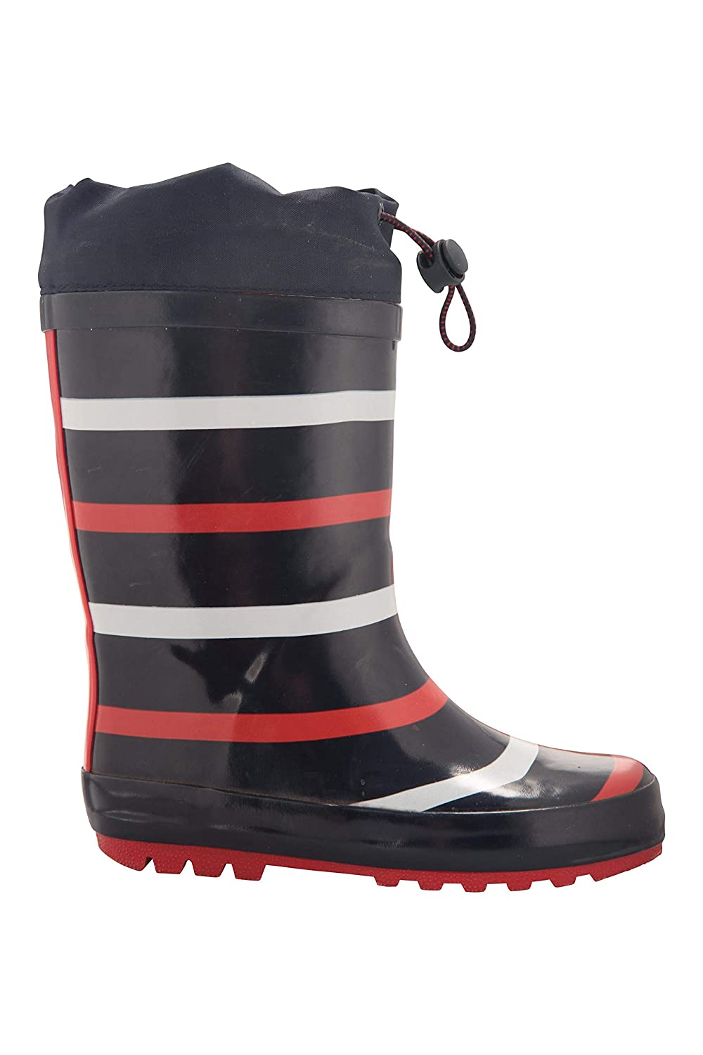 Travelling Lightweight Rubber Outsole Easy to Clean Childrens Shoes for Walking Mountain Warehouse Sunny Rubber Kids Wellies EVA Midsole Rain Wellington Boots