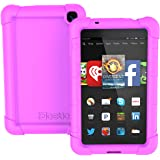 Fire HD 6 Case - Poetic Fire HD 6 Case [Turtle Skin Series] - [Corner/Bumper Protection] [Grip] [Sound-Amplification] Protective Silicone Case for Amazon Kindle Fire HD 6 Purple
