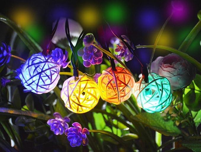 Lightess catene luminose led ad energia solare da metri