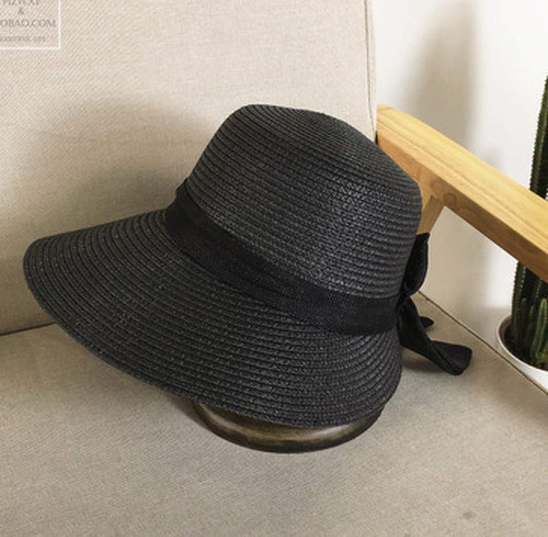 Womens Sun Hat Big Bow Wide Brim Floppy Summer Hats for Women Beach Straw Bucket Hat Sun Protection Visor Cap