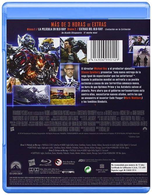 Transformers 4: La Era De La Extinción BD + BD Extras Blu-ray ...