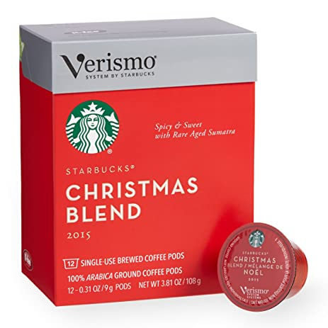 2016 starbucks christmas blend verismo pods 12 count