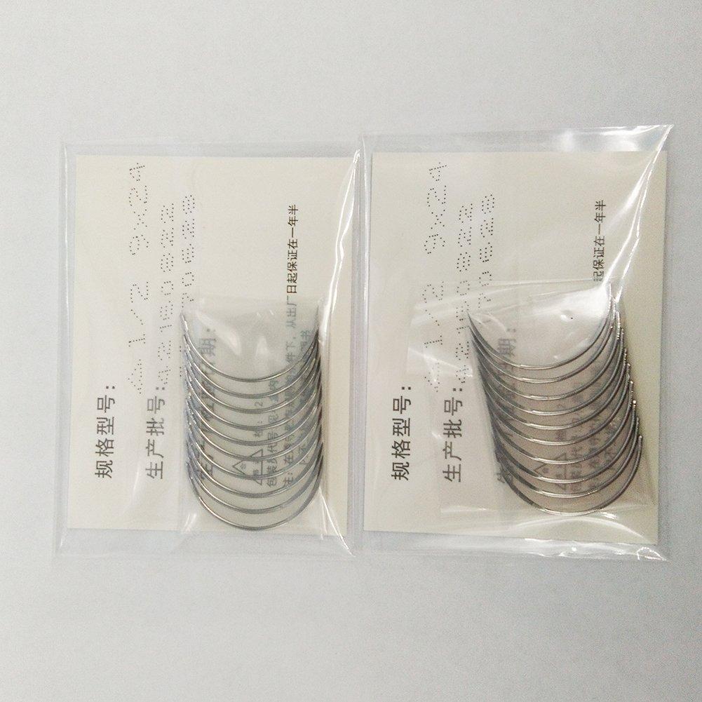 100 pcs 1/2 Circle Suture Needle Cutting & Round 9x24 (Cutting)