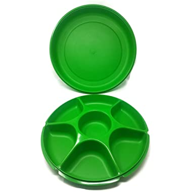 Tupperware Large Serving Center in Sea Green