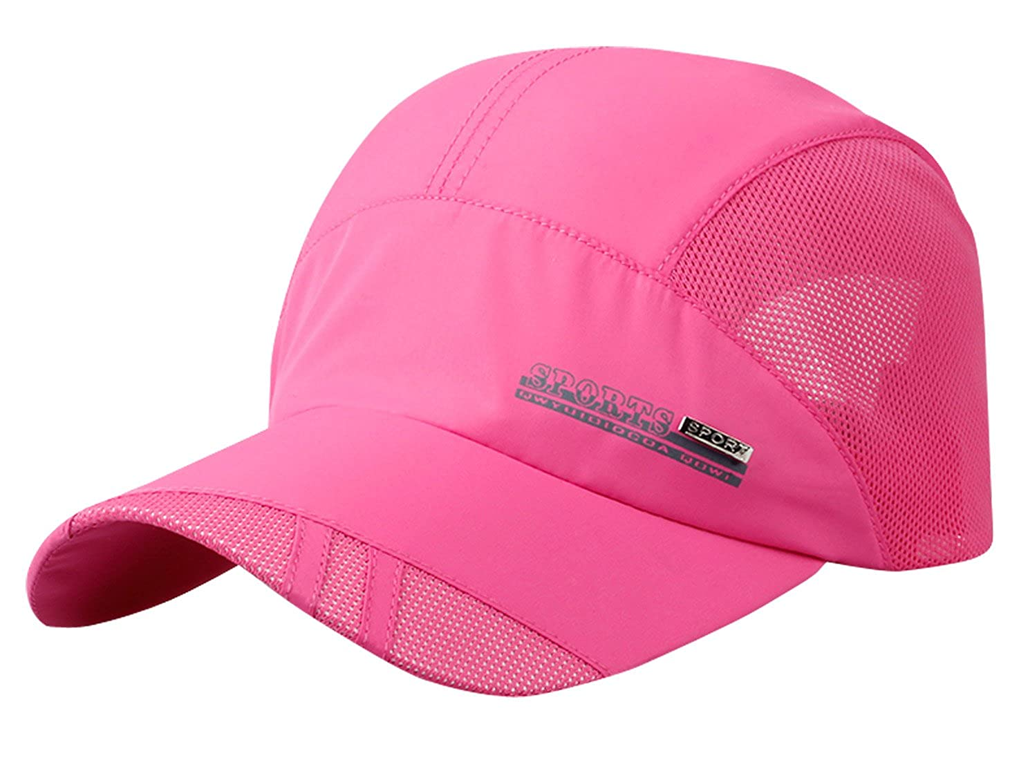 AIEOE Mens Athletic Baseball Cap Breathable Mesh Quick Dry Adjustable Solid Hat