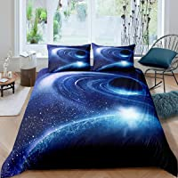Planet Bedding Set for Boys Girls Full Outer Space Duvet Cover,Galaxy Theme Kids Room Decor Comforter Cover Mysterious…
