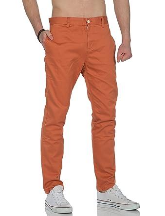 c18f1056516cfa TWOTHIRDS Herren Chino Hose Celebes Sea Sunset Orange: Amazon.de ...
