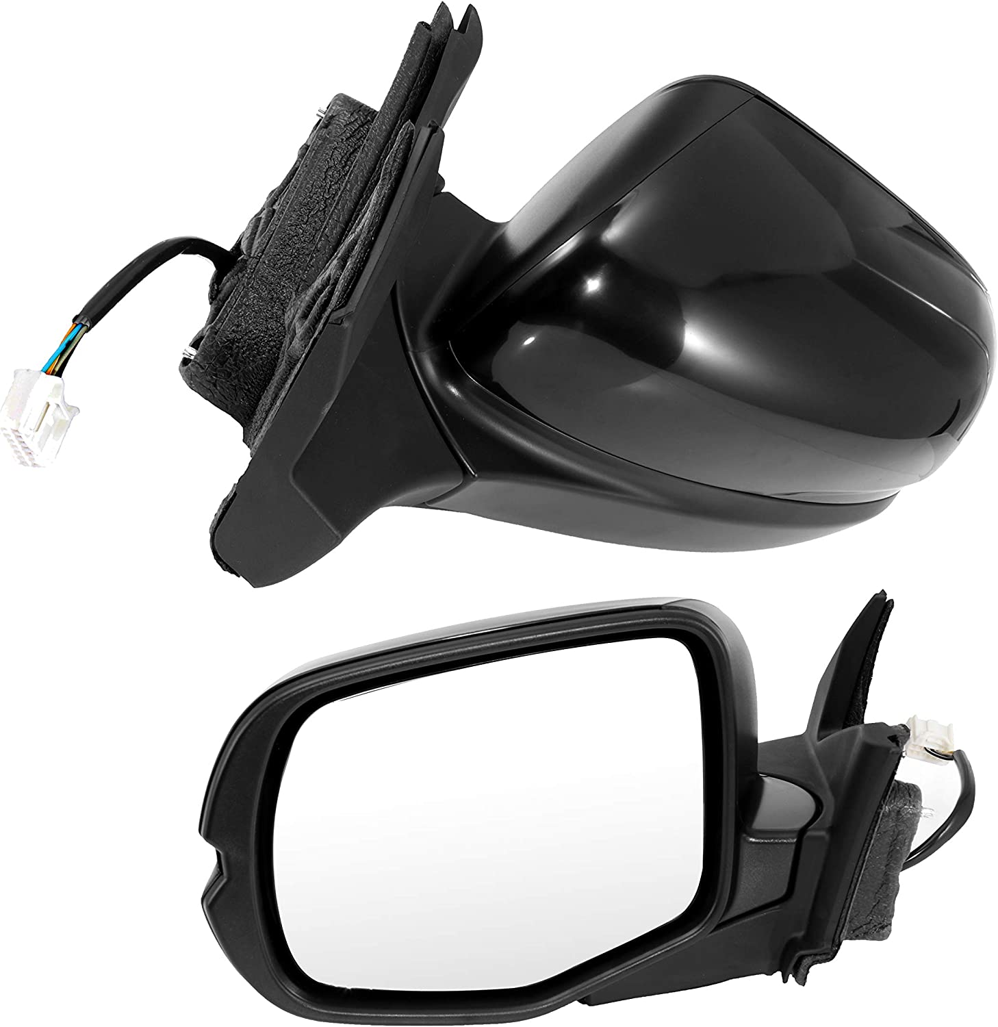 Power Heated Signal Side View Mirror Smooth Caps Covers Pair Set for Tundra