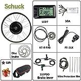 """Schuck 48V 1000W Kit de Bicicleta eléctrica 20""""/ 24"""" / 26""""/27.5"""" / 28""""/ 700C Rueda Delantera Kit de conversión de…"""